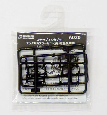 Rokuhan A021 Snap in Coupler European Type Coupler Short 6 pcs.1//220 Z Scale