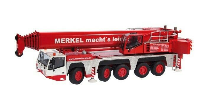 Échelle 1 50 NZG 869 03 TEREX AC200-1 grue mobile-Merkel-Entièrement NEUF dans sa boîte