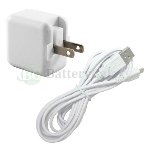 10FT USB Micro Cable+RAPID Wall AC Charger for Amazon Kindle Fire HD HDX 7.0 8.9
