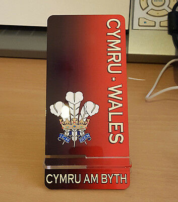 Cymru am Byth Coaster Prince of Wales feathers