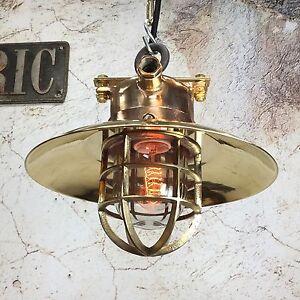 Vintage-Industrial-Light-Bronze-Brass-Metal-Explosion-Proof-Ceiling-Pendant