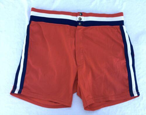 Vtg Medalist Sand Knit Softball Coaches Shorts Str