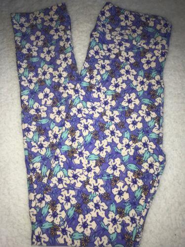 LuLaRoe Kids Leggings NWT L//XL Large XLarge Periwinkle Blue White Floral
