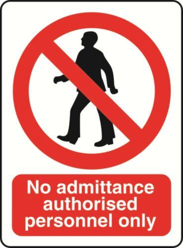 No Admittance autorisé de Santé et Sécurité Avertissement Autocollant Latex Imprimé proh 058