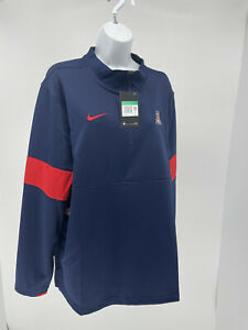 Nike DriFit Therma Mens Arizona Wildcats 1/4 Zip Pullover Jacket Sz XL NWT