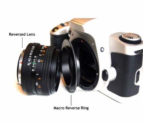 62mm Macro adaptador de reversa para cámaras Nikon se adapta a todos Nikon F//AI dlsrs