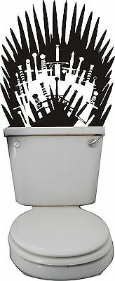 Game of Thrones Iron Throne Wall Art Sticker, Decal, Mural, Toilet, Bathroom