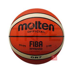 Molten Bgr7 Bgr6 Bgr5 Fiba Approved Highly Durable Rubber Training Basketball