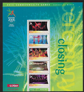 AUSTRALIA-2006-COMMONWEALTH-GAMES-CLOSING-CEREMONY-Souv-Sheet-No-16-MNH