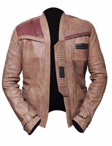 Dameron Poe giacca Finn nascosta di vera Boyega Star mucca John Wars pelle antica Eqzwtz1