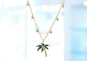 Swarovski Lime Palm Tree Necklace Gold-Plated Summer 5375301 Brand ...
