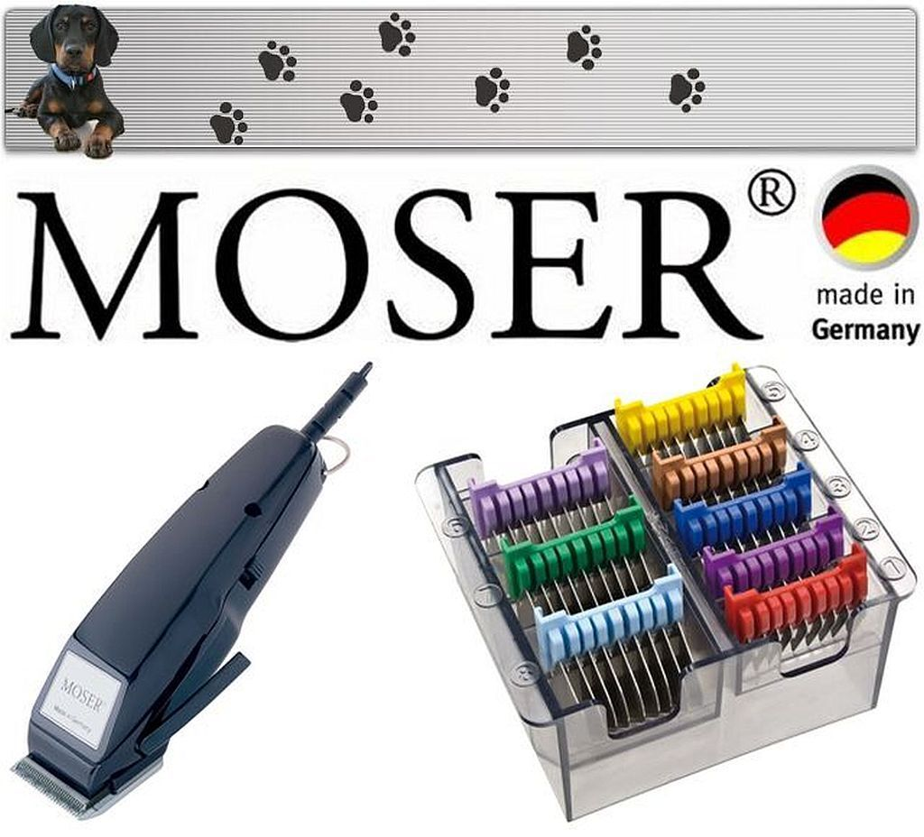 MOSER TOSATRICE PER CANI PROFESSIONALE MADE IN GERMANY + NUOVO 3,6,10,13,16,19,