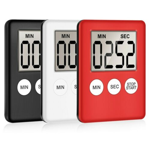 LCD Digital Screen Kitchen Timer Cooking Count Up Countdown Alarm Magnet Clock