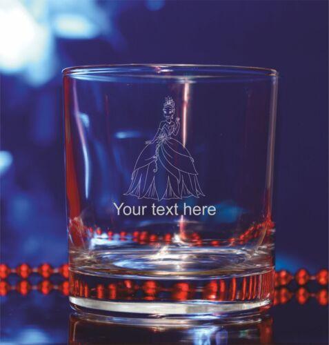 Personalised Disney PrincessTiana engraved glass Birthday,Christmas#169