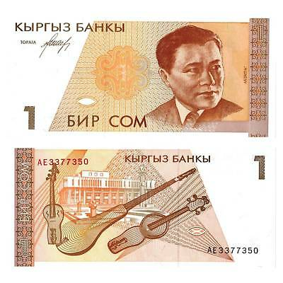 Paper Money: World Analytical Kyrgyzstan/kyrgyzstan 1 Som 1994 Pick 7 Unc 356247 ## Coins & Paper Money