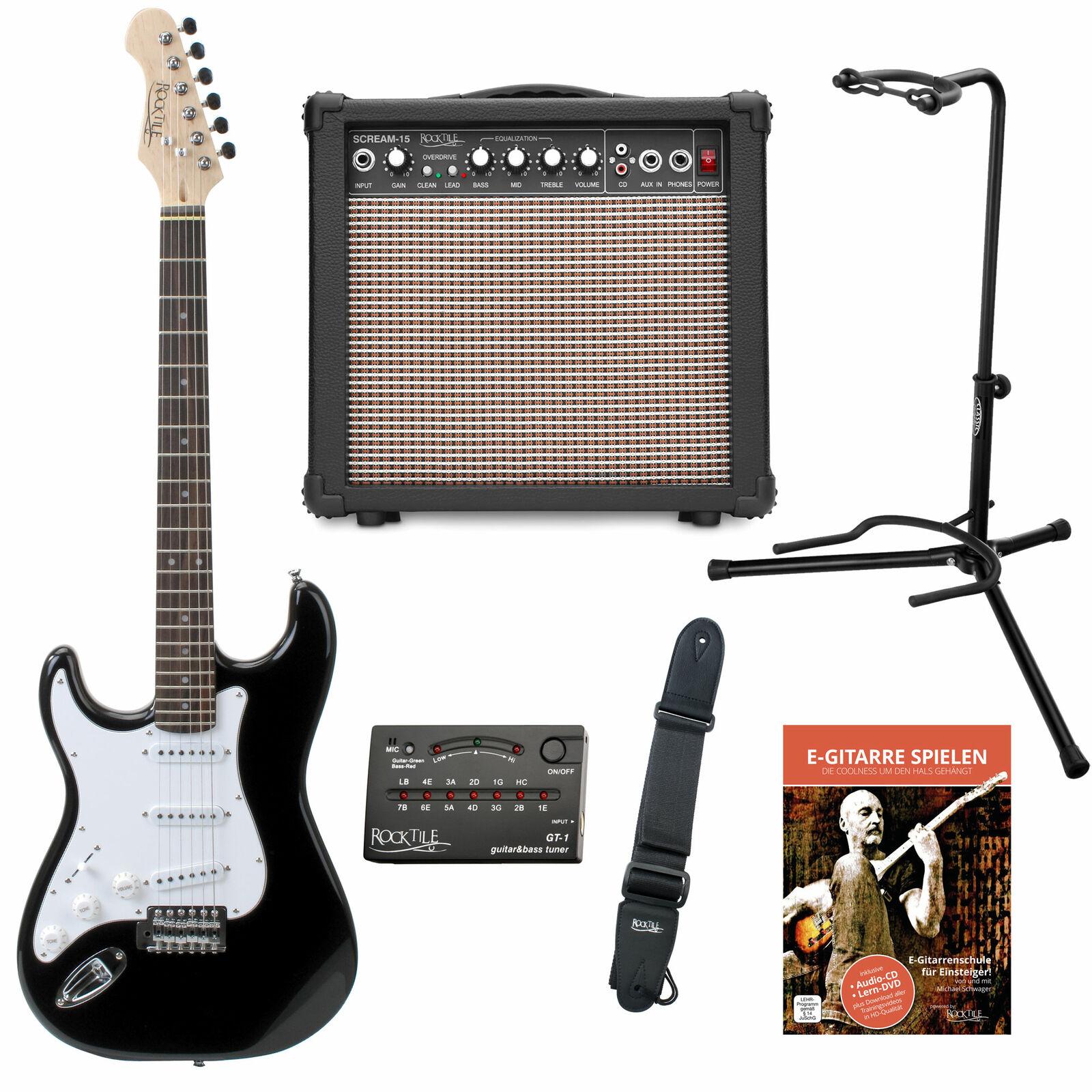 Super Linkshänder E-Gitarren Set - alles, was man für den Start braucht