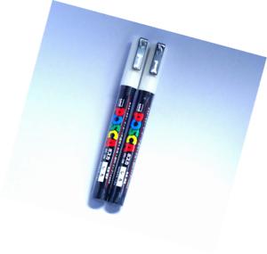 Japan Import Uni Posca Paint Marker PC-3M White Komainu-Dou 2 pens per Pack