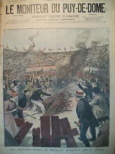 MARSEILLE-PRADO-NOUVELLES-ARENES-INCENDIeES-PUBLIC-MECONTENT-ORAGE-FOUDRE-1899