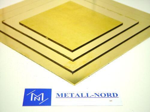 Messing Platte 300x100x3mm Ms63 ZUSCHNITT einseitig foliert CuZn37 Brass Sheet