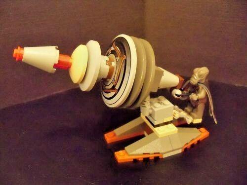 LEGO Star Wars - Rare Original - Winged Geonosian Geonosian Geonosian with Gun Turret - Excellent 42a1a8