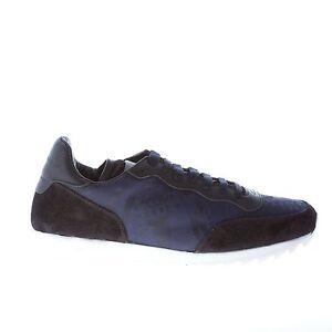 Details about ALEXANDER MCQUEEN men shoes Blue jacquard sneaker with black  trims