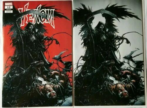HOT! Venom #12 Clayton Crain Grim Reaper Virgin Variant Set 2019 In hand Marvel