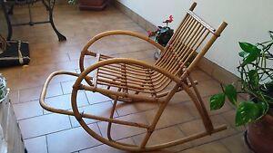 Sedie A Dondolo Bambini : Sedia a dondolo in bambù per bambini ebay