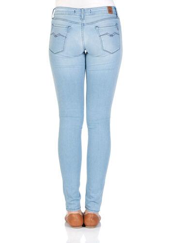 Light Blue Replay Damen Jeans Luz Blau Skinny Fit