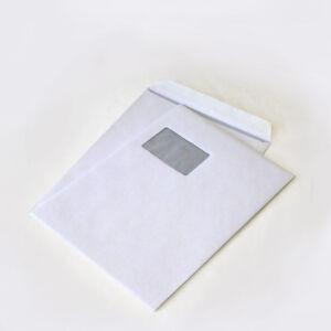 100 St Versandtaschen extra stark 120 gr DIN A4 C4 weiß mit Fenster HK