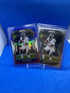 2020 Panini Prizm Red White And Blue And Base Jalen Hurts (2) Card Lot