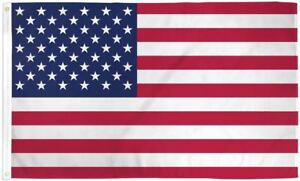 BIG-US-Flag-5x8-ft-Polyester-with-Metal-Grommets-USA-American-America-Stars