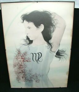 Zodiac-Scorpio-Lithography-Original-Years-039-70-Portrait-Woman-71x51-CM