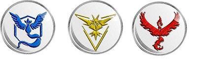 Pokemon Go Team Instinct Yellow Mystic Blue Or Valor Red Logo Wall Decal Ebay