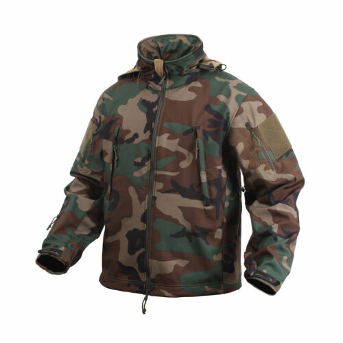 Waterproof Jacket Woodland Camo Special Ops Soft Shell 9906 Rothco