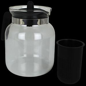15 L Teekanne Glaskanne Mit Deckel Teebereiter Aus Glas Kaffeekanne