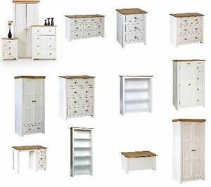 High Quality Image Is Loading CAPRI WHITE PINE BEDROOM FURNITURE  WARDROBES CHESTS BOOKCASES