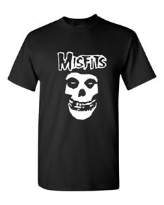 Brand-New-Misfits-Fiend-Skull-Punk-Rock-Band-T-Shirt-Sizes-S-2XL-Black