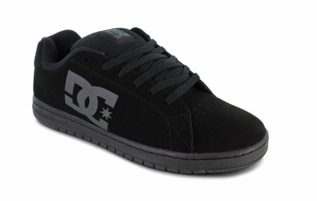 DC Full Black Men's Gaveler Leather Skateboarding Shoes Low 100536