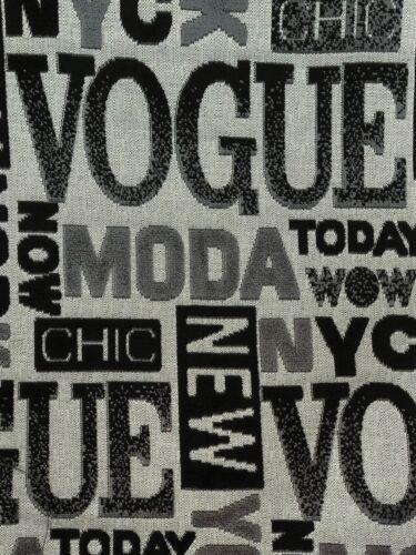 No.293 Negro Vogue Nueva York Estampado Tela De Tapicería//material FAB 140 CM