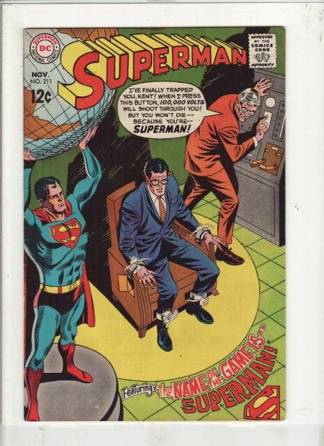 SUPERMAN #211 VF+