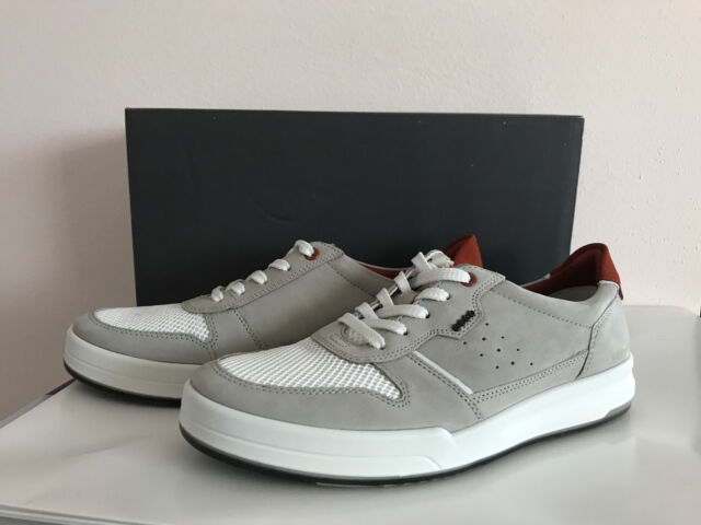 ECCO Size 12 to 12.5 Jack Summer White Leather Fashion