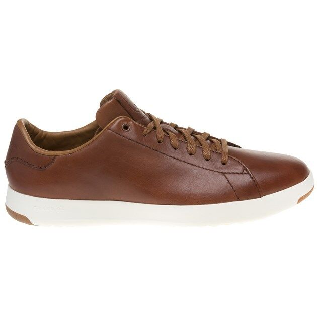 New Mens Cole Haan Tan Lace Grandpro Tennis Leather Shoes Lace Tan Up 7c1b0c