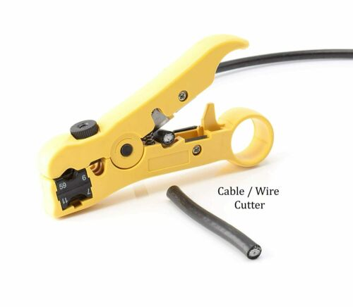 Yellow Premium Wire Stripper//Cutter Coaxial Coax Cable Stripping Tool RG6//59