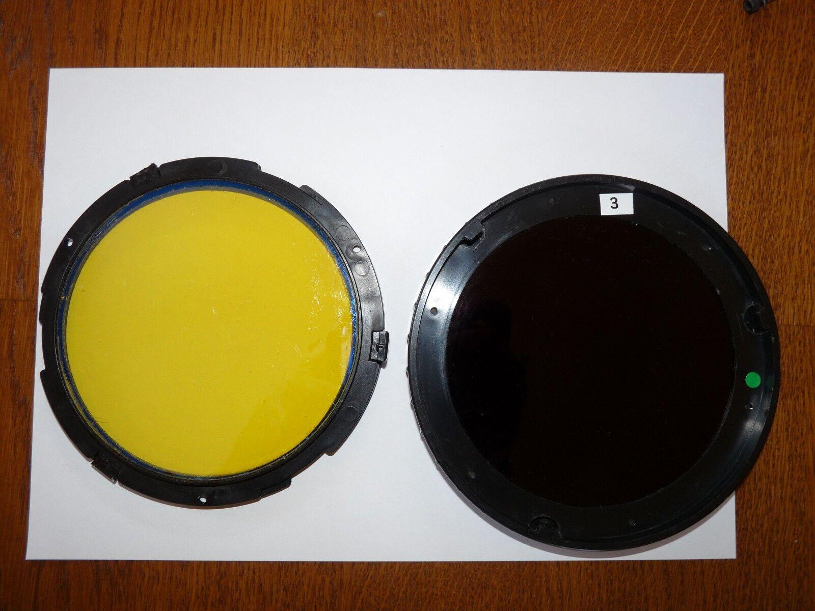 MaxaBeam Sesrchlight Set of 2 Filters , IR IR IR Filter and Amber Filter d0e87b
