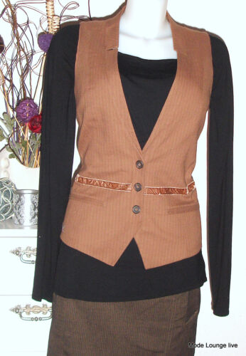 Proven Wool en coton Magpie de Veste Brown laine 38 Vest Noa Vest M b6v7IYgfy