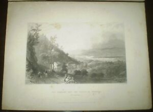 1838-Engraving-W-H-Bartlett-VALLEY-OF-WYOMING-PENNSYLVANIA-LUZERNE-COUNTY