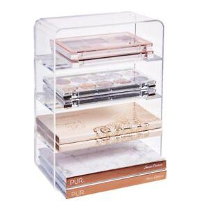 1c2c48bf7130 Details about Stori Clear Plastic Makeup Palette Vanity Organizer |  4-Compartments