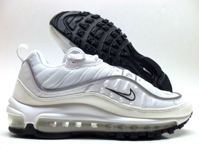 98e7399dff Women's Nike Air Max 98 White Reflective Silver Ah6799-103 Size 10 ...