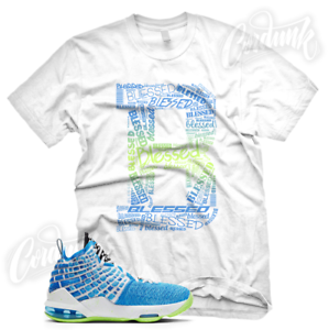 034-B-BLESSED-034-Sneaker-T-Shirt-for-Lebron-17-GS-Photo-Blue-Sprite-Promise-All-Star