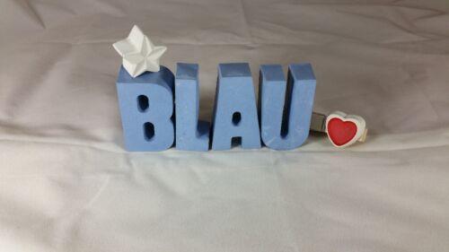 Steinguss Buchstaben 3D Deko Namen LENA als Geschenk verpackt! Beton